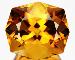 ~FANCY~ 13.90 Cts Natural AAA Golden Orange Citrine Brazil