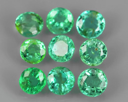 EXCELLENT~NATURAL EMERALD ~ ROUND  ~ NICE QUALITY GOOD COLOR GOOD