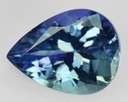 1.25  CTS FANCY BLUE GREEN COLOR NATURAL TANZANITE  LOOSE GEMSTONE