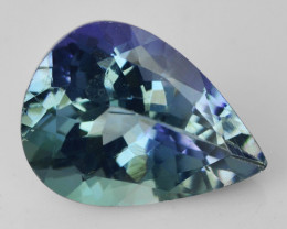1.01  CTS FANCY BLUE GREEN COLOR NATURAL TANZANITE  LOOSE GEMSTONE