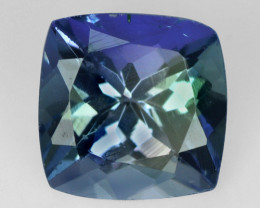 0.86  CTS FANCY BLUE GREEN COLOR NATURAL TANZANITE  LOOSE GEMSTONE
