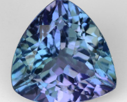 0.88 CTS FANCY VIOLET BLUE COLOR NATURAL TANZANITE  LOOSE GEMSTONE