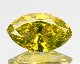 0.36 Cts Natural Diamond Golden Yellow Marquise Cut Africa