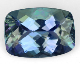 0.81  CTS FANCY BLUE GREEN COLOR NATURAL TANZANITE LOOSE GEMSTONE