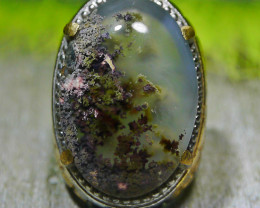 110.20 CT UNTREATED Beautiful Indonesian Moss Agate Picture Jewelry