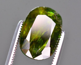 Top Fire 4.40 Ct Natural Green Sphene From Himalayan Range. RA