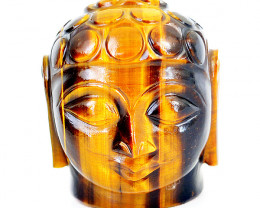 Genuine 542.50 Cts Golden Tiger Eye Buddha Head