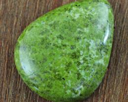 Genuine 69.00 Cts Green Garnet Pear Shape Gem