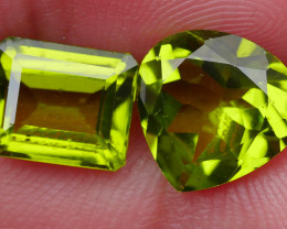 5.55 CRT AWESOME NATURAL PERIDOT PAIR STUNNING COLOR-