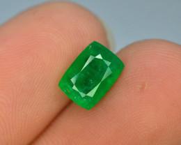 1.60 CT Untreated Vivid Green Emerald