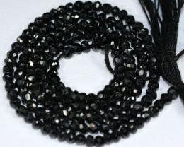 Gilding 20.65Ct Natural Black Spinel Rondelle Faceted Beads 35cm