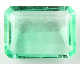 3.26 ct Natural Colombian Emerald Green Gem Loose Gemstone Stone