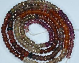 67.45 Cts Natural Fancy Tuntu Sapphire Beads - 45.80 cm &4.28-2.75 mm