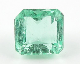 0.82 ct Natural Colombian Emerald Green Gem Loose Gemstone Stone