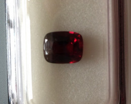 Certified Violetish Red Spinel 1.04ct.