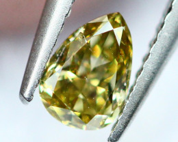 0.17Ct Untreated Fancy Intense Green Olive Color Diamond A1601