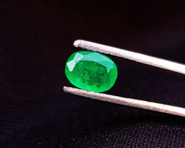 1 Ct Natural Greenish Semi Transparent Emerald Ring Size Gemstone
