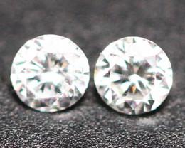 1.60mm 2Pcs G Color VS2-SI Clarity Natural Loose Diamond E1602