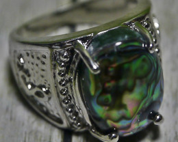41.25 CT BLUEISH GREEN INDONESIAN ARTISTIC PATTERN SHELL