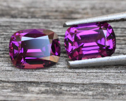 3.63cts Purple Garnet Pair - Grape Garnet - Mozambique (RG196)