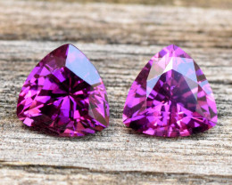 3.07cts Purple Garnet Pair - Grape Garnet - Mozambique (RG195)