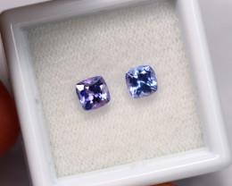 1.20cts Natural Violet Blue Tanzanite Pair / 1408
