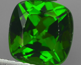 2.68 Cts Eye Catching Natural Rich Green Chrome Diopside Cushion!!
