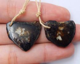 Nugget Agate Earrings ,Handmade Gemstone , Earrings,Lucky Stone B743