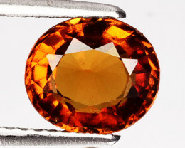 Mandarin Orange 1.76Ct Hessonite Garnet Oval Sri Lanka