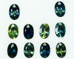 6.79 Cts Natural Fancy Sapphire 6x4 mm Oval Cut 10 Pcs Madagascar