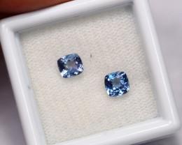 1.02cts Natural Violet Blue Tanzanite Pair / 1416