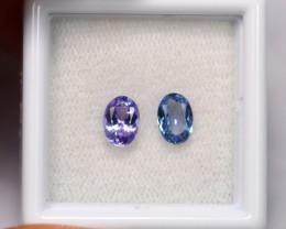 1.15cts Natural Violet Blue Tanzanite Pair / 1418