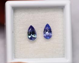 1.16cts Natural Violet Blue Tanzanite Pair / 1419