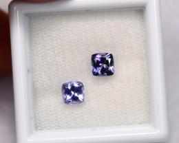0.98cts Natural Violet Blue Tanzanite Pair / 1420