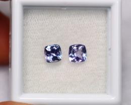 1.12cts Natural Violet Blue Tanzanite Pair / 1422
