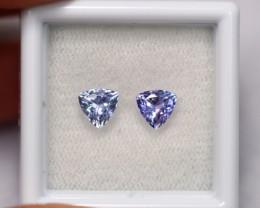 1.27cts Natural Violet Blue Tanzanite Pair / 1424