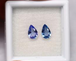 1.14cts Natural Violet Blue Tanzanite Pair / 1425