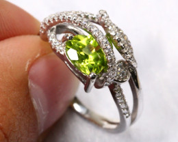 17.86cts 925 Sterling Silver Ring /8