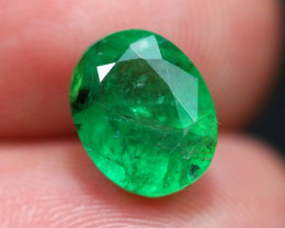 3.12Ct Natural Vivid Green Zambian Emerald  E1704