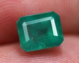 1.51Ct Natural Vivid Green Zambian Emerald  E1705