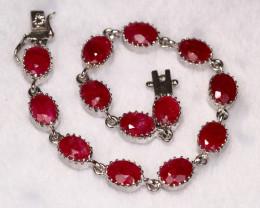 64.21cts 925 Sterling Silver Bracelet /R87