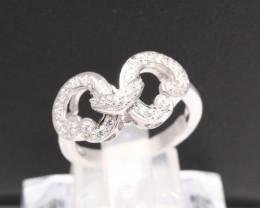 Diamond Ring 18Kt Gold F/VS Natural Diamond Ring D30