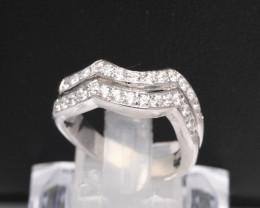 Diamond Ring 18Kt Gold F/VS Natural Diamond Ring D31