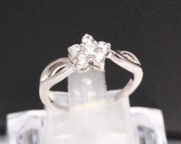 Diamond Ring 18Kt Gold F/VS Natural Diamond Ring D32