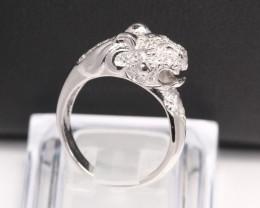 Diamond Ring 18Kt Gold F/VS Natural Diamond Ring D34