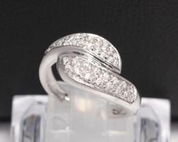 Diamond Ring 18Kt Gold F/VS Natural Diamond Ring D35