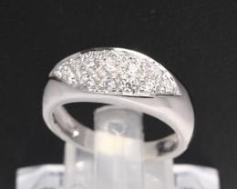 Diamond Ring 18Kt Gold F/VS Natural Diamond Ring D36