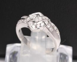 Diamond Ring 18Kt Gold F/VS Natural Diamond Ring D38