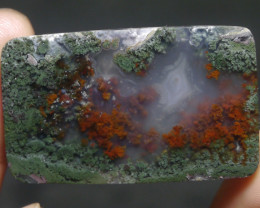86.80 CT UNTREATED Beautiful Indonesian Moss Agate Picture