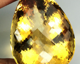 Big 203.82 ct. 100% Natural Top Yellow Golden Citrine Brazil